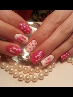 Baby girl nails Baby Girl Nails, Girls Nails, Nail Ideas, Beauty, Beauty Illustration, Nail Art Ideas