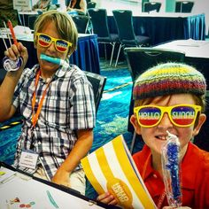 Future #travel #bloggers getting their conference swag on at #tbex in #florida #hellosunny #visitflorida