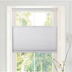 Ivy Bronx Deluxe Top-down Bottom-up Semi-Sheer Cellular Shade Blind Size: x Finish: White Bamboo Shades, Solar Shades, Tie Up Shades, Sun Shades, Blackout Roman Shades, Roman Shade Tutorial, Best Blinds, Cellular Shades, Outdoor Sun Shade