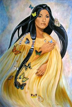 """""""Butterfly Woman"""" original oil painting from Rous Art Studio"""