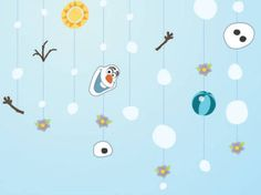 Disney Wallhanger! #Frozen #party #DIY
