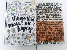 "misc. journal pages — some things that make me happy, lyrics from ""first day of my life"" by bright eyes (which is one of my favorite songs ever and if you have never listened to it before i encourage..."