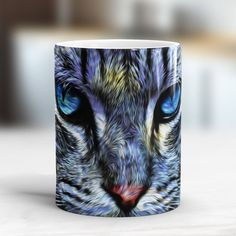 Cat starry night coffee mug New cat mug Fabulous gift for cat lover Cat coffee mug Cat Van Gogh mixed Gift idea for cat mom, gift for sister Cat Lover Gifts, Cat Gifts, Cat Lovers, Cat Coffee Mug, Cat Mug, Night Coffee, Animal Mugs, Magic S, Watercolor Animals