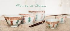 Antique rice bowls from China. |  odile lm