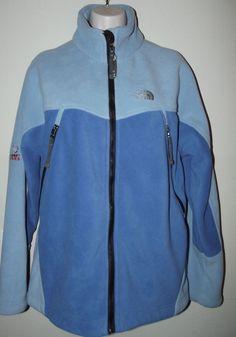 North Face Summit Series Windstopper Jacket Blue Fleece Women Size MED #NorthFace #Outdoor