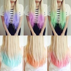 2015 Top 6 Ombre Hair Color Ideas for Blonde Girls Buy & DIY. In recent few seasons, Ombre hair color is no doubt becoming more popular. It obviously has been the Nouveau Chic of many hair designers, frequently seen in fashionREAD Kids Hair Color, Hair Dye Colors, Ombre Hair Color, Purple Hair, Dyed Tips, Hair Dye Tips, Dye Hair, Dyed Hair Ends, Pastel Hair