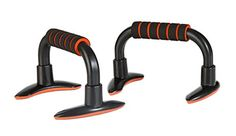 KLB Sport Nonslip Push up Stands with Foam Handles for Men or Women Orange -- To view further for this item, visit the image link.