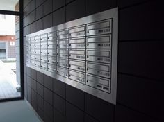 Mail Room Modern Entrance Living Environment Hotel Hallway Locker Designs Signage Systems Office Interiors Letter Bo