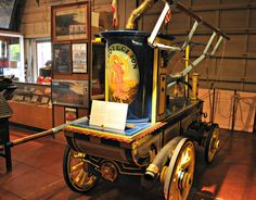 Step inside SF's Fire Museum for a look at one of the original fire trucks to protect the city. It dates back to 1810.