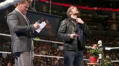 Raw Shane McMahon cancels Chris Jericho's 'The Highlight Reel' and introduces 'The Ambrose Asylum' Dean Ambrose, Roman Reigns, The Rock, Wwe, Shane Mcmahon, Raw Photo, Chris Jericho, Highlights, Asylum