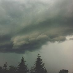 And so, the storm finally rolled in  Mark Peter Drolet