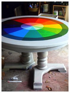 color wheel table- would love in studio