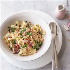 Crab tagliatelle recipe. Made with time-saving ingredients that are easy to find in supermarkets, crab tagliatelle is ready to serve in just 10 minutes.