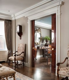 Incredibly beautiful pocket doors!  John B. Murray Architect:
