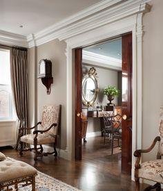 Incredibly beautiful pocket doors! John B. Murray Architect: