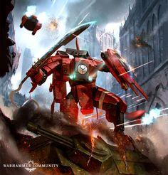 Warhammer 40k Art, Warhammer 40k Miniatures, Warhammer Fantasy, Tau Battlesuit, Empire Tau, Heavy Metal, Sword Poses, 40k Armies, Alien Art