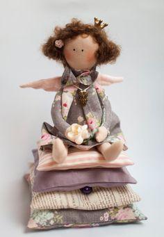 Tilda doll - Little Princess and the Pea, fabric doll, angel, fairy tale princess doll, handmade - perfect birthday gift