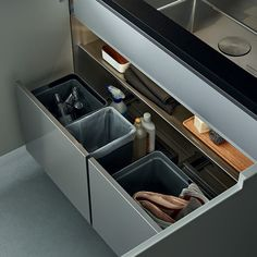 Contemporary kitchen / wood veneer - PHOENIX - Varenna Poliform