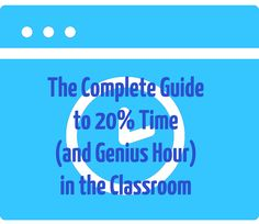 It's been almost a full three years since I told my students they would have 20% of their class time to work on whatever project they were inspired to create. Since then I've learned so much from my students and our amazing community of 20% time and Genius Hour teachers. I have tried to share …