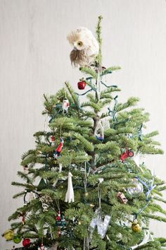 owl tree topper #holidays