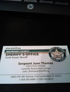 Sergeant Thomas contact information