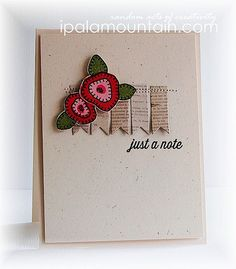 Just a note | Created with the Blanket Stitched Blooms stamp… | Flickr - Photo Sharing!
