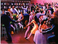 Artist: Archibald J. Motley Title: Nightlife Date: 1943