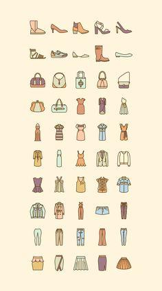Fashion icon set on Behance