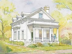 Example of a modern Greek Revival style home |Dream House Plan from Southern Living |