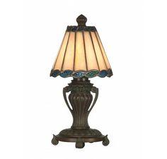 Dale Tiffany TA10878 Mini Crown Tiffany Accent Lamp