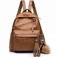 Cheap Retro PU School England Style Tassels Casual Outdoor Sports Travel Backpack For Big Sale!Retro PU School England Style Tassels Casual Outdoor Sports Travel Backpack