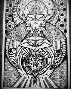#hexagon #geometric #sacredgeometry #symmetric #origami #source #universe #beyond #alien #grid #cube #ascension #physics #spiritual #visionary #mandala #dotwork #magick #flight #pattern