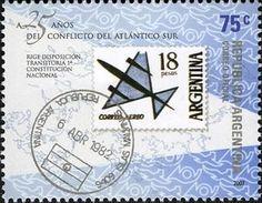 Stamp cancelled by Oficina Radiopostal Islas Malvinas