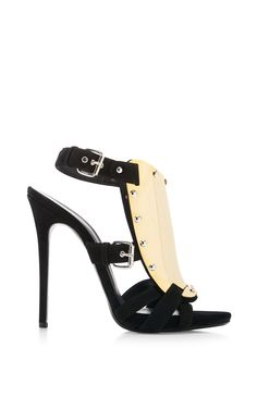 Coline Metal and Suede Sandals by Giuseppe Zanotti - Moda Operandi