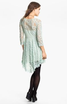 16c25cb89561 Free People Handkerchief Hem Lace Dress in Blue (pale mint) - Lyst Day  Dresses