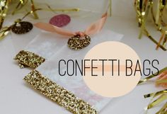DIY glitter confetti favor bag
