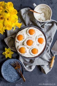 Schokoladiger Spiegeleier-Kuchen zum Osterfest   Alles und Anderes