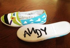 Toy Story Painted Shoes. $60.00, via Etsy.