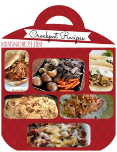 20 Crockpot Recipes - Mom's Madhouse, might have to try some of these soon. Crock Pot Food, Crockpot Dishes, Crock Pot Slow Cooker, Slow Cooker Recipes, Crockpot Recipes, Cooking Recipes, I Love Food, Food And Drink, Yummy Food