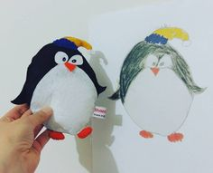 "67 Likes, 2 Comments - Shaza crochet (@shaza_ar) on Instagram: ""New draw .. omar drawing🐧🐧 #felt #feltros #keçe #handmade #elişi…"""