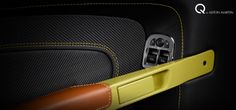 Clothe your car's interior in alternative finishes such as saddle leather and a patterned weave. Learn more about Q by Aston Martin at http://www.astonmartin.com/en/colour-and-trim/q-by-aston-martin #AstonMartin
