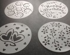 Stages of Love Silhouette Cake Stencils Designer by LilyBearLane