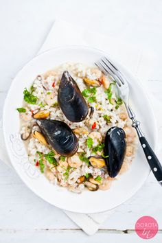 #risotto z owocami morza - #przepis z filmem krok po kroku  http://dorota.in/risotto-z-owocami-morza/  #kuchnia #obiad