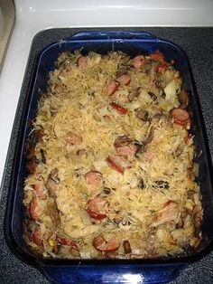 Polish and Russian word for cabbage. Kluski means noodles pronounced KLU-ski My mother would add Kielbasa to this dish unless we had it on . Slovak Recipes, Ukrainian Recipes, Czech Recipes, Hungarian Recipes, Russian Recipes, Ethnic Recipes, African Recipes, Lithuanian Recipes, Russian Foods