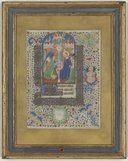 Miniature de l'Annonciation, tirée du Livre d'heures à l'usage de Rome conservé sous la cote Ms-575 de l'Arsenal . -- 1450-1455 -- manuscrits