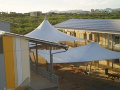 Schoolplein HAVO Bonaire - POLYNED Membrane Structure, Tensile Structures, Dome Tent, Glamping, Canopy, Gazebo, Sail Shade, Villa, Shades