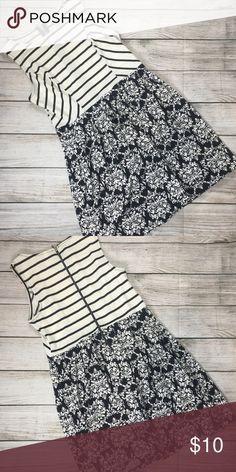 Xhilaration stripe and Floral dress size m Size medium cute dress Xhilaration Dresses