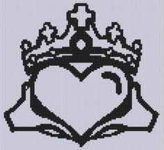 Claddagh 2 Cross Stitch Pattern