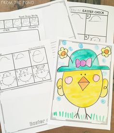 Preparing your Spring curriculum? Here are some Easter-themed directed drawings. Kindergarten Drawing, In Kindergarten, Classroom Art Projects, Art Classroom, Drawing For Kids, Art For Kids, Art Activities, Classroom Activities, Easter Activities