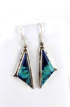 AZURITE STERLING EARRINGS